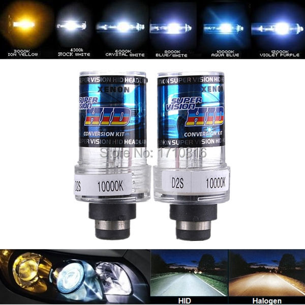 New 2X 35W D2S/D2C Car for HID Xenon Replacement Auto Light Source Headlight Lamp Bulb 4300K 5000K 6000K 8000K 10000K 12000K(China (Mainland))