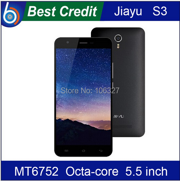 "JIAYU S3 FDD LTE 4G phone MT6752 Octa Core 1.7Ghz 3G RAM 5.5"" 1920*1080 Gorilla Glass Mobile phone Android cell phone/Eva(China (Mainland))"