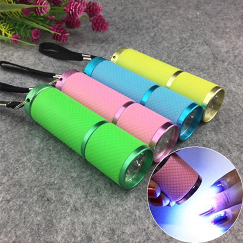 1pcs Nail Dryer Mini LED Flashlight UV Lamp Portable For Nail Gel Fast Dryer Cure 5 Colors Choose Nail Gel Cure Manicure Tool