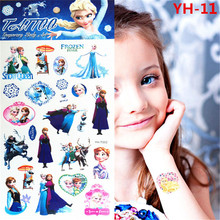 Froze Elsa Anna Temporary Tattoo Stickers Kids Waterproof Princess Stickers Tatoo For Children prince FREE SHIPPINGYH-011