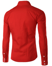 2015 New Dress Fashion Quality Long Sleeve Shirt Men Korean Slim Design Formal Casual Male Dress