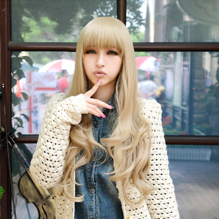 Drag Queen Wigs Flax ash Lolita Sex Products Rainbow Synthetic Bangs Curly Hair Wigs Ombre Wig Cheap Anime Cosplay Wigs<br><br>Aliexpress