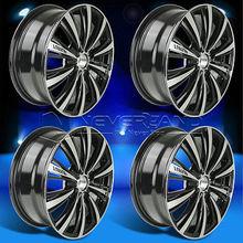4 Pcs/Set pour Nissan Sentra 2002 - 2012 116 '' x 6.5 '' en alliage roues de voiture jante noir usiné poli USA STOCK livraison gratuite(China (Mainland))