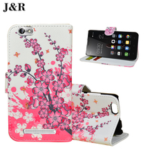 Flip Cover PU Leather Case For Lenovo vibe C A2020 Beautiful Flower Printing Sparkle Wallet Design For Lenovo A2020 case cover