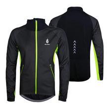 WOLFBIKE Men's Fleece Thermal Winter Wind Coat Outdoor Sports Cycling Jacket Windproof Bicycle Long Sleeve Jersey Top Waterproof