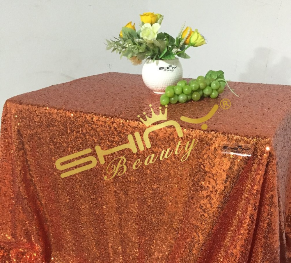 1 DAY SHIP 50''*72'' Orange Sequin Table Cloth For Cake Tablecloth Wholesale Sequin Table Cloths Sequin Linens Sparkle Sequin(China (Mainland))
