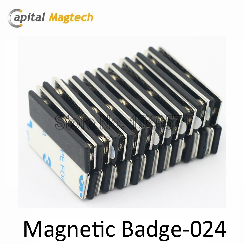 50pcs Magnetic Badge Name ID Badge Attachment Name Tag Holder with 2pcs Magnets  Free Shipping