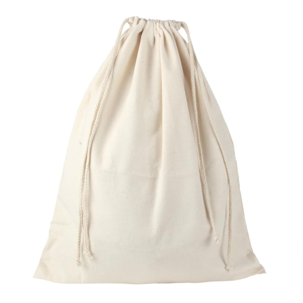 Umiwe Reusable Customizable Large Rice Bag Canvas Drawstring Tote Cinch Sack Bag Support Logo Printing,Creamy White(China (Mainland))