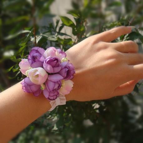 Браслеты на руку из искусственных цветов своими руками