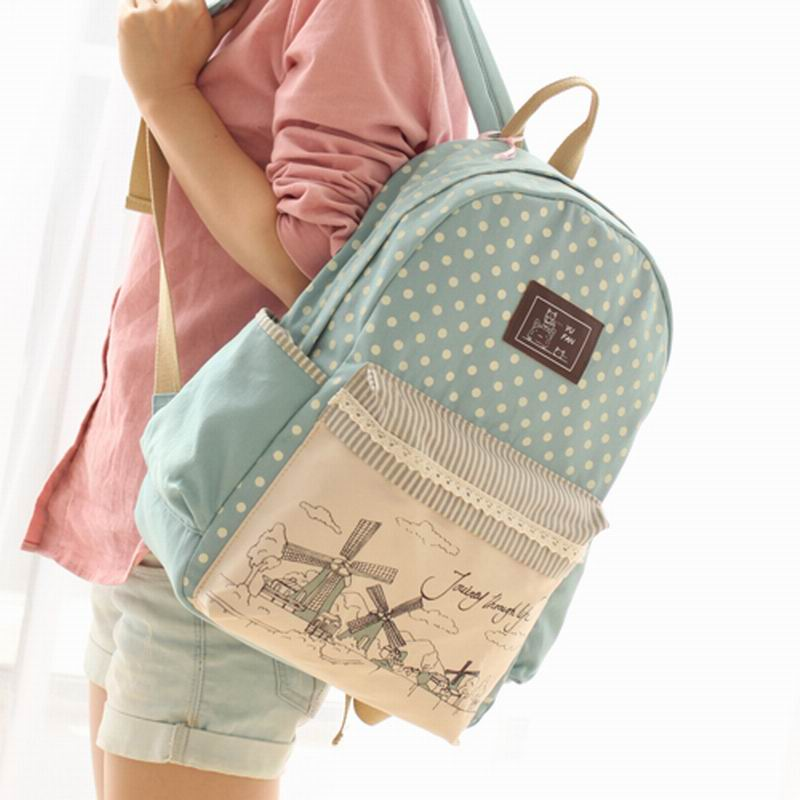 2015 Fashion Women's Canvas Backpack School bag For Girl Ladies Teenagers Casual Travel bags Schoolbag Bagpack #ST-423