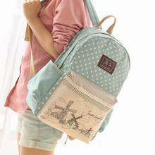 2016 Fashion Women s Canvas Backpack School bag For Girl Ladies Teenagers Casual Travel bags Schoolbag