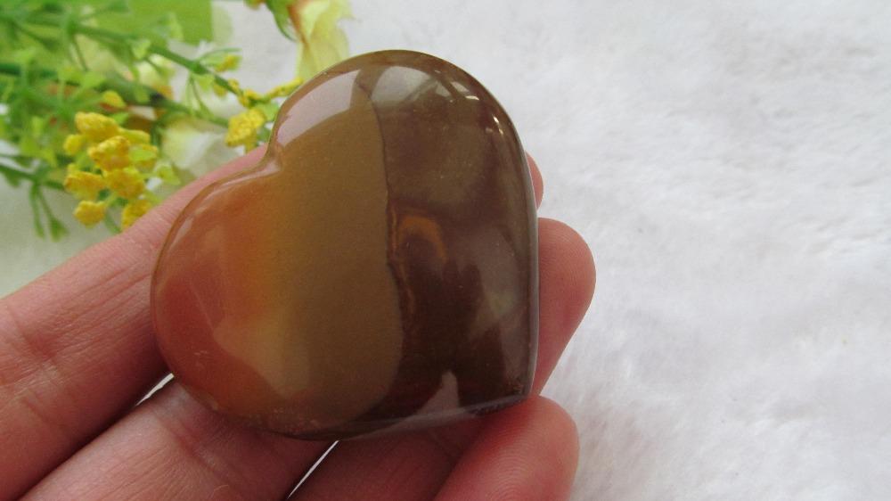 Natural Ocean Jasper Love Heart Quartz Crystal Love Heart Sea Stone Love Heart(China (Mainland))