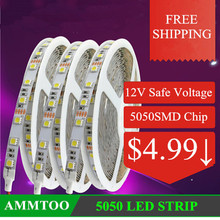 DC 12v 5050 SMD Waterproof LED Strip Light 300 LED Flexible Lighting String Tape Lamp Party Wedding Home KTV Decoration Lights(China (Mainland))
