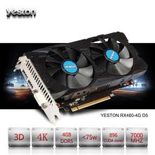 Buy Yeston ATI Radeon RX 460 GPU 4GB GDDR5 128 bit Gaming Desktop computer PC Video Graphics Cards support DVI/HDMI PCI-E X16 3.0 for $179.98 in AliExpress store