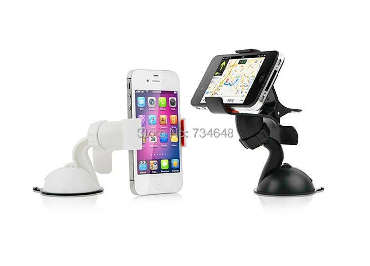 Universal Car Mount Holder for Cellphone/MP3/GPS with Quick Lock and Release (Single Clamp Two Claws)(China (Mainland))
