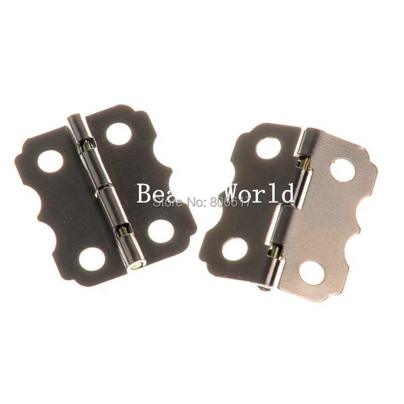 Гаджет  Wholesale Free Shipping 50 Pcs Silver Tone Door Butt Hinges 4 Holes (rotated from 90 to 210 degrees) 24x20mm(W04380) None Аппаратные средства