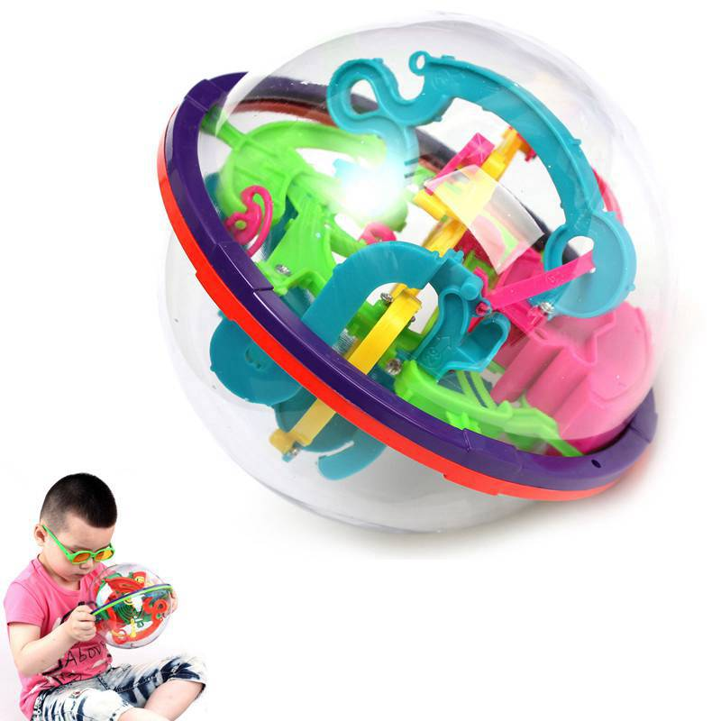 Hot 3D Magic Intellect Maze Ball Toys Kids Children Balance Logic Ability Puzzle Game Educational Training Tools Free shopping(China (Mainland))