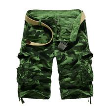 Usa rozmiar 2019 nowe kamuflaż luźne szorty Cargo mężczyźni fajne lato wojskowe Camo krótkie spodnie Homme szorty Cargo(China)