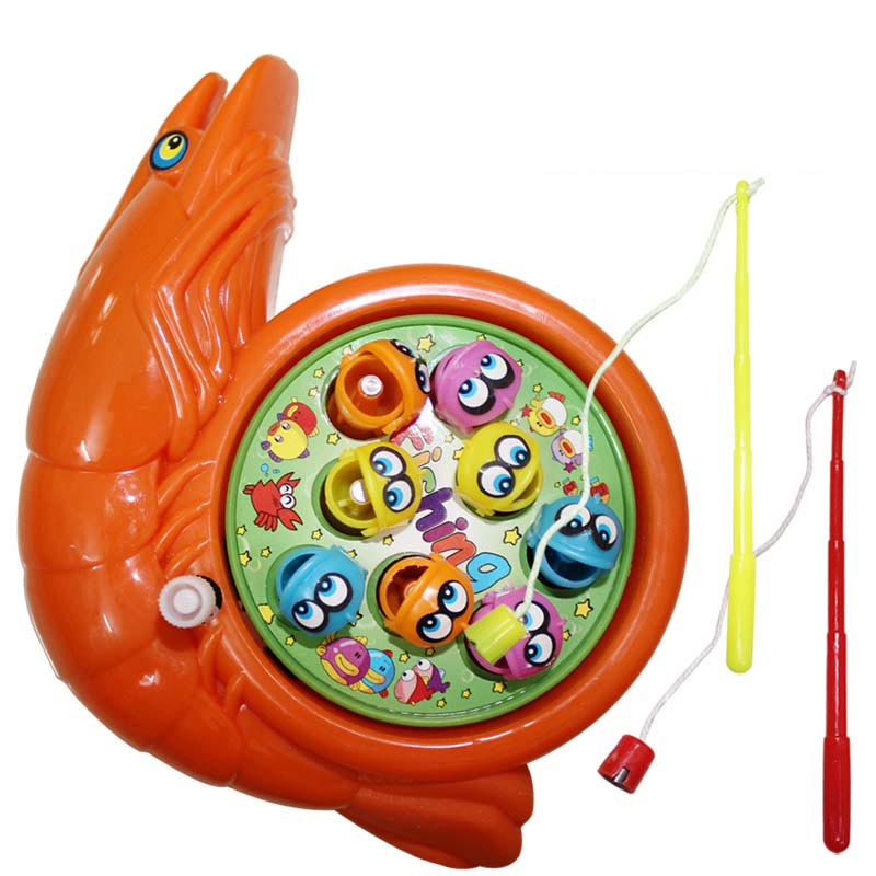 Manual Winding Movement Fishing Toys For Kids Baby Educational Learning Clockwork Toy Magnetic Wind Up Toys(China (Mainland))