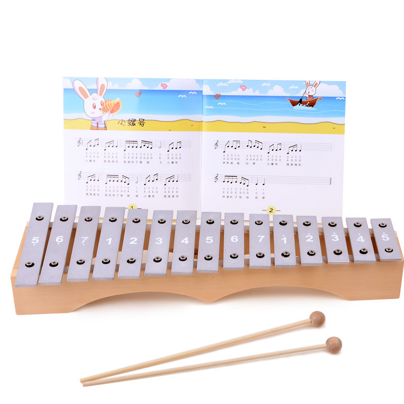 15-Note Wooden aluminum Xylophone Musical Instrument Educational Toys Gift for Baby Kids Child<br><br>Aliexpress