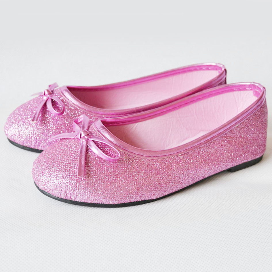 popular glitter pink ballet flats buy cheap glitter pink