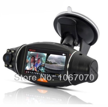 Car DVR-2.7'' or 2.0'' LCD screen Rotating Dual Len Vehicle DVR Road Dash Video Camera Recorder Traffic Dashboard recorde()