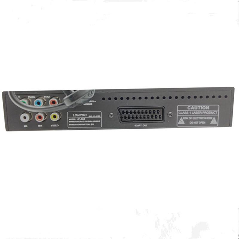 ถูก ใหม่ราคาถูกมินิพลาสติกร่างกายเครื่องเล่นดีวีดีUSB Scartออกอินเตอร์เฟซดีวีดีเครื่องเล่นหลายภาษาทีวีเครื่องเล่นดีวีดีDIVX MPEG4 DVD CD RW MP3