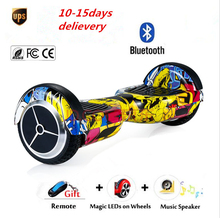 Buy Tax LED lights 2 wheel Smart Electric scooter self balance Electric Unicycle Skateboard standing drift electric hoverboard for $210.60 in AliExpress store