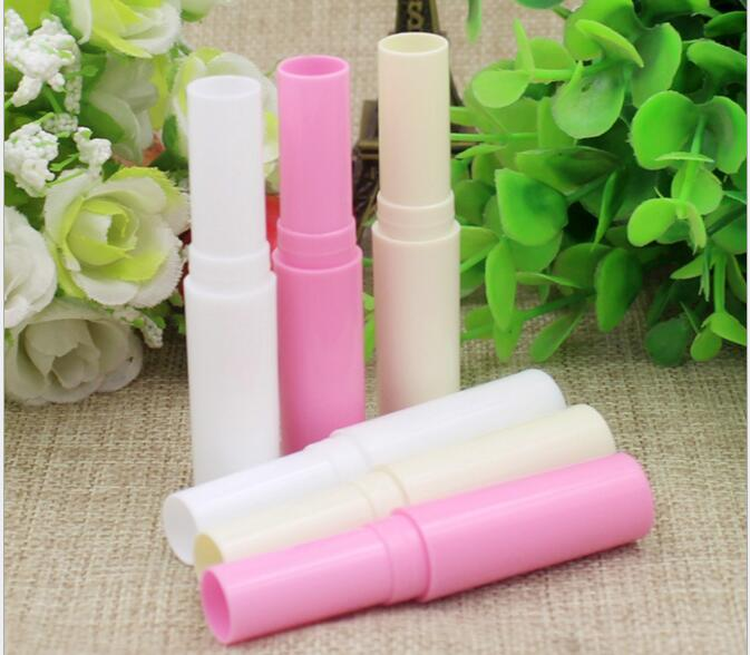 50pcs/lot 4g Lipstick Tube Lip Balm Stick Container Lip Cream Bottle Empty Plastic Tube Refillable Packaging(China (Mainland))