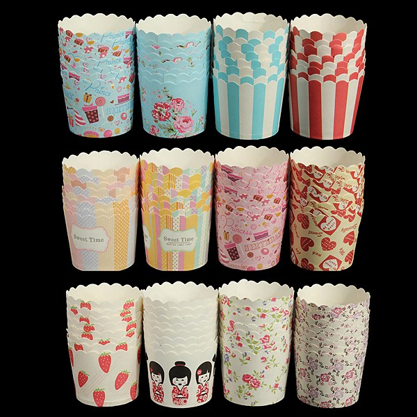 50pcs/bag Disposable Pretty Paper Cupcake Baking Cups Styling Cooking tools Muffin Cake Liner Send Randomly(China (Mainland))