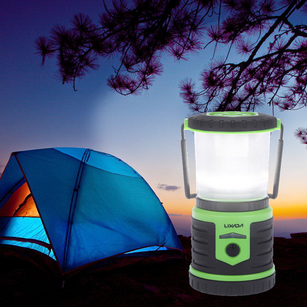 LIXADA 5W 400LM Rechargeable Camping Lantern 6000mAh Mobile Power Bank 6 Modes Waterproof Portable Camping Tent Outdoor Lighting(China (Mainland))