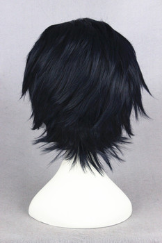 [Seraph of the End] Guren Ichinose 30cm Short Black and Blue Synthetic Anime Cosplay Wig