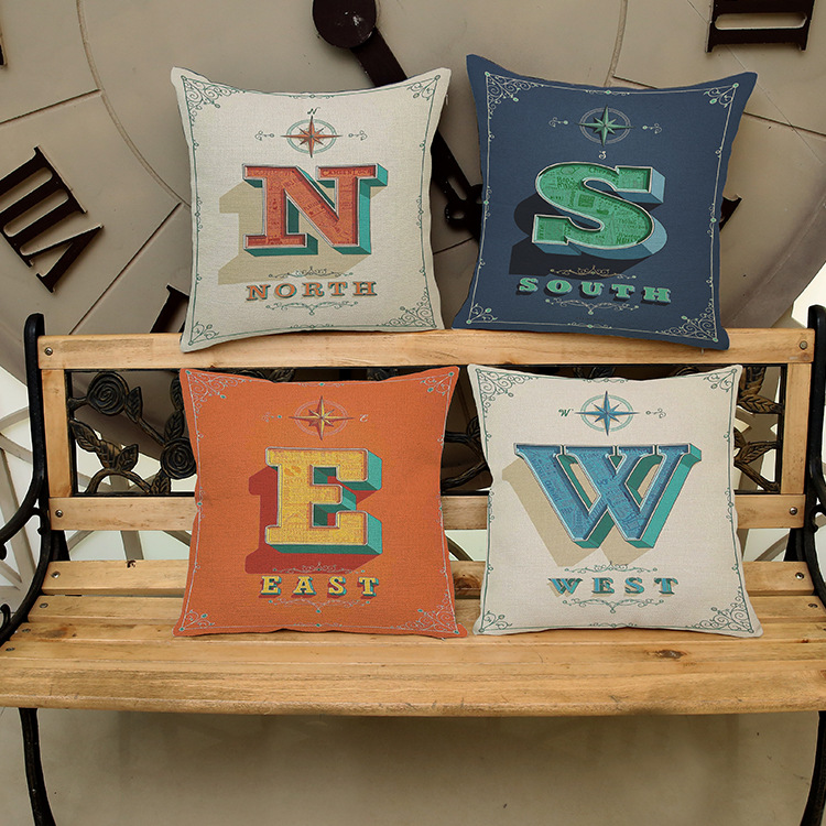 Free shipping With Continental English letters Square Pattern printing Luxury home Decorate Car sofa seat cushioncushions pillow