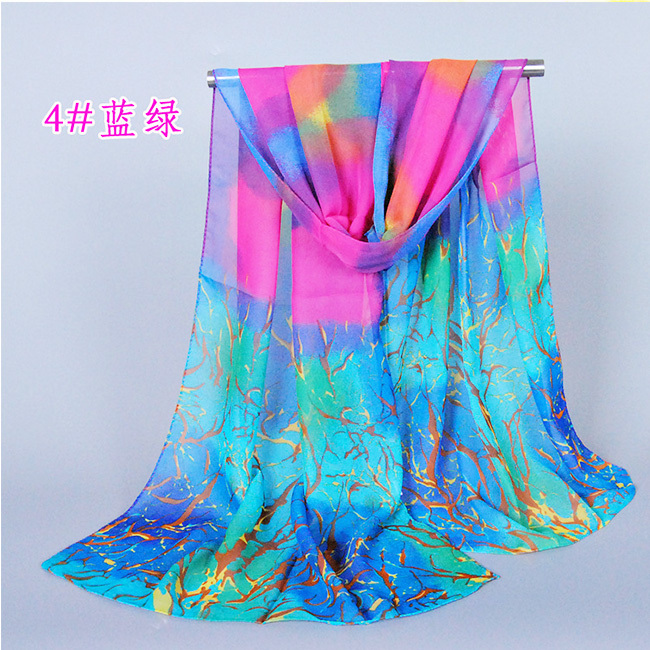 2016 New Hot Top Selling Scarves160CM*50 Air Conditioning Shawl Classic Bohemia chiffon scarves Woman Thin Scarf wholesale(China (Mainland))