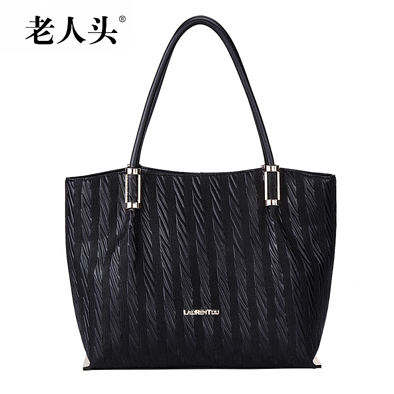 Здесь можно купить  Woman Bags 2015 Handbag High Quality Genuine Leather Bag LAORENTOU Brand Fashion Shoulder Cowhide Bag Popular Striped Handbags  Камера и Сумки