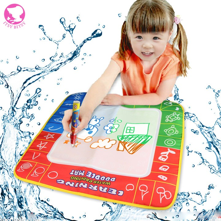 49x49cm Upgrade Water Painting Doodle Mat Aqua Baby Drawing Sheet Kids Learning Writing Board with a magic pen(China (Mainland))