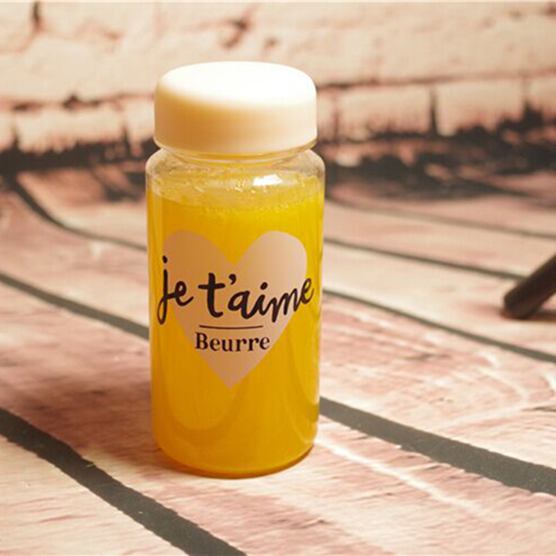 Je t'aime Plastic Water Bottle Leak-proof Bottle Sport/Camping/Biking My Lemon Juice Bottles 350ML(China (Mainland))