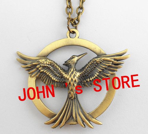 Freeshipping The Hunger Games Antique Pendant Inspired brooch necklace Pendant  New style high qaulity Hunger Games pin DDCR66<br><br>Aliexpress