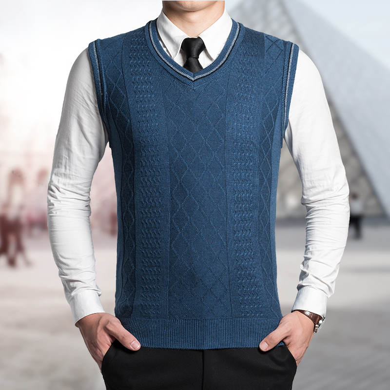 Knitting Pattern Central Men s Vests : Mens Cable Vest Knitting Pattern - Long Sweater Jacket
