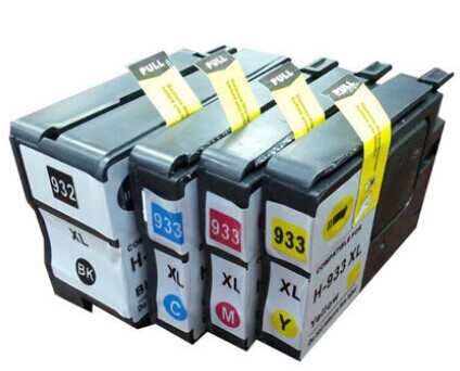 (4 pieces/lot) Free Shipping Compatible Ink Cartridge for HP 932XL 933XL for HP Officejet 7110  6100 6600 6700 Printer schleich набор пещера