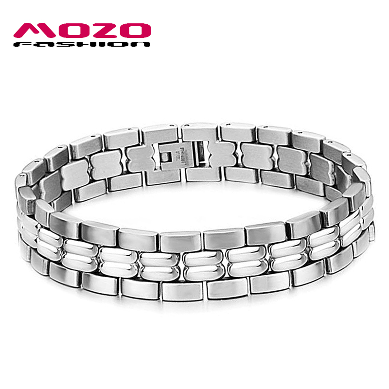 Free Shipping 2016 New Hot Sale Fashion New Watch Chain Models Men's 316 Titanium Steel Bracelets For Men MGS3063(China (Mainland))