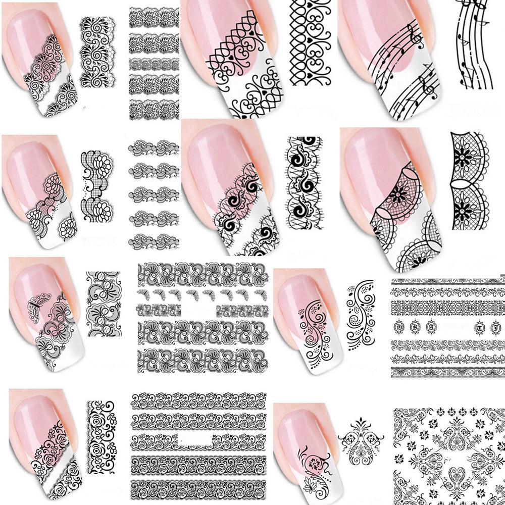 Наклейки на ногти своими руками кружево распечатать
