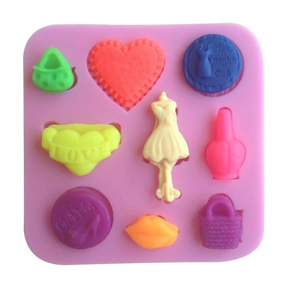 1pcs Purse Shaped Chocolate Candy Jello 3D Silicone Cake Tools Soap Mold Sugarcraft Cake Decoration C077(China (Mainland))