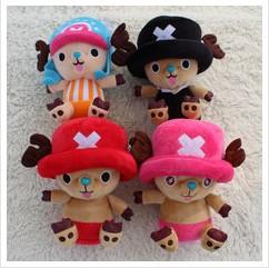 4PCS free shipping 18CM=7Inch Japan Anime Cartoon One Piece Tony Tony Chopper Plush Stuffed Toy Doll for Children Birthday Gift от Aliexpress INT