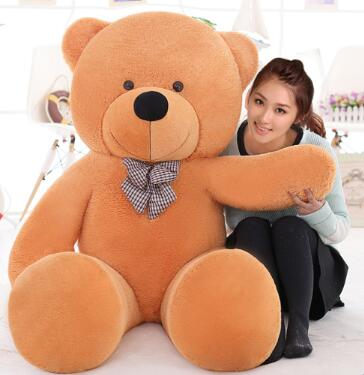 220cm large teddy bear giant big plush toys Life size teddy bear stuffed animals Children soft peluches Christmas gift(China (Mainland))