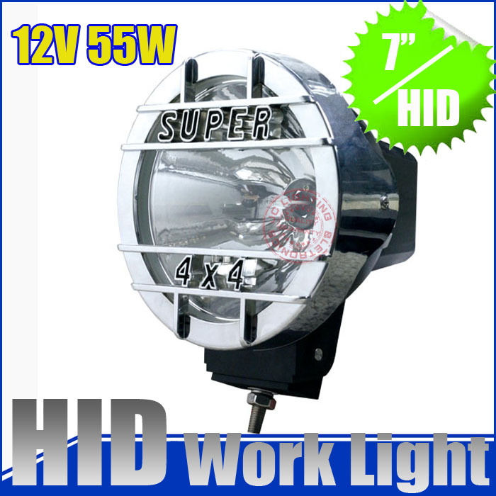 12v 55w! 7 inch Hid xenon offroad work light,driving light with ballast , H3 lamp for 4x4  Jeep SUV, truck headlight , H3 lamp<br><br>Aliexpress