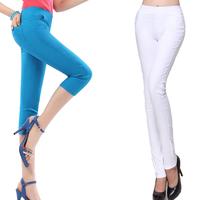 2013 spring elastic slim pencil pants candy multicolour skinny pants casual pants plus size pencil pants