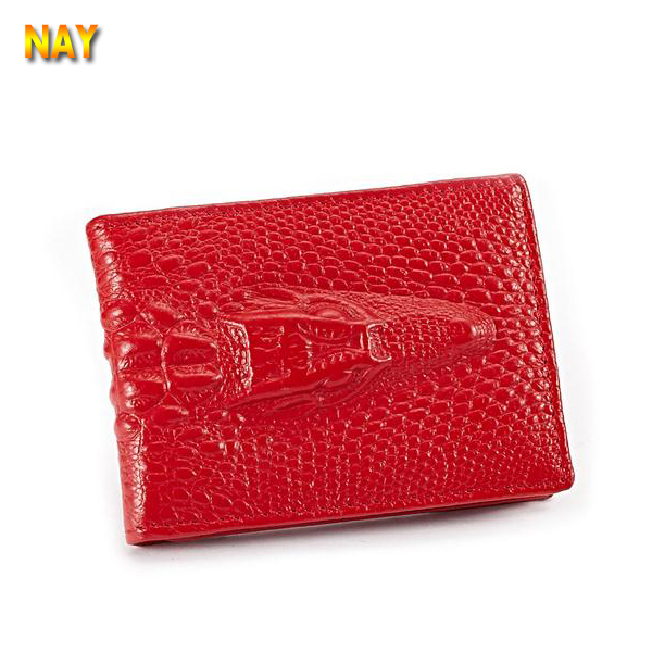 Unisex Card Case Luxury Women Genuine Leather Credit ID Bank Card Bag Card Holder Pack Crocodile Men Driver License Cover(China (Mainland))