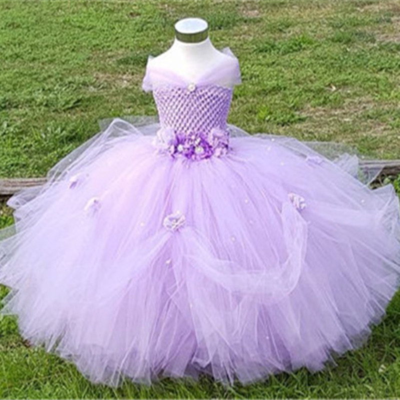 1 8Y Princess Tutu Tulle Flower Girl font b Dress b font Kids Party Pageant Bridesmaid