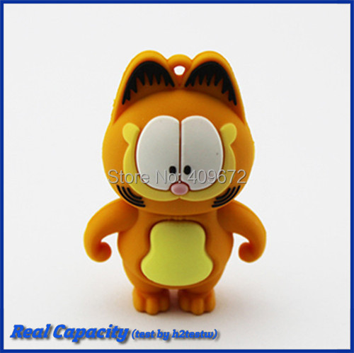 cartoon animal Garfield pen drive usb flash drive pendrive usb stick 2GB 4GB 8GB 16GB 32GB pen drive Free Drop shipping